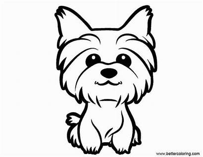 Yorkie Coloring Puppy Teacup Dog Terrier Yorkshire
