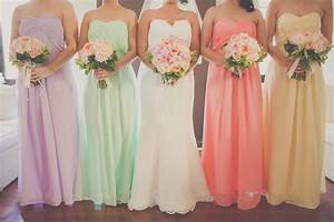sunset romance the vintage wedding of cherish tim With pastel color dress for wedding