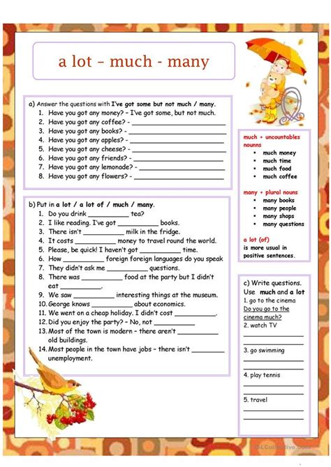 How Much How Many Worksheet  Free Esl Printable Worksheets Made By Teachers