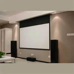 Hidden In Ceiling Electric Projection screen with remote control/motorized reccessed in ceiling projector screen for home cinema