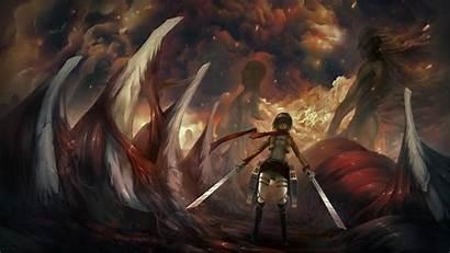 Titan Attack Mikasa Shingeki Kyojin Wallpapers Ackerman