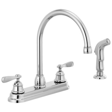 Peerless Kitchen Faucets At Walmart by Peerless Two Handle Deck Mount Kitchen Faucet In Chrome