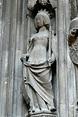 Statue of Catherine of Bohemia, wife of Rudolf IV, duke of ...