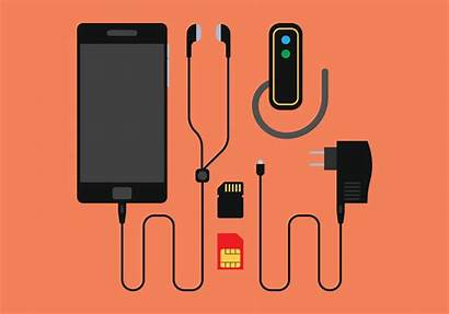 Phone Charger Vector Accessories Mobile Clipart Vectors
