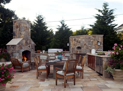 barbecue fireplace the highlight in the garden interior design ideas ofdesign