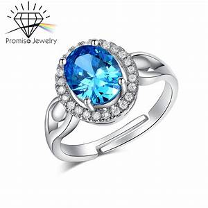 white gold plated sapphire diamond rings for women finger With resell wedding rings