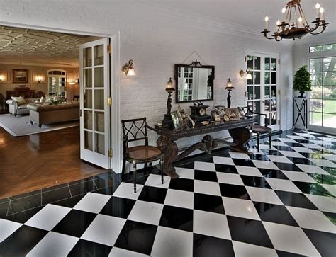 black and white tile floor black and white floor tiles ideas with images