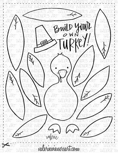 Thanksgiving Printables Fall Crafts Turkey Build Printable