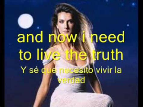 celine dion  surrender lyrics english spanish youtube