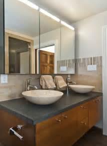 Double Bathroom Sink Tops by Mirrored Medicine Cabinet Bathroom Contemporary With Gray