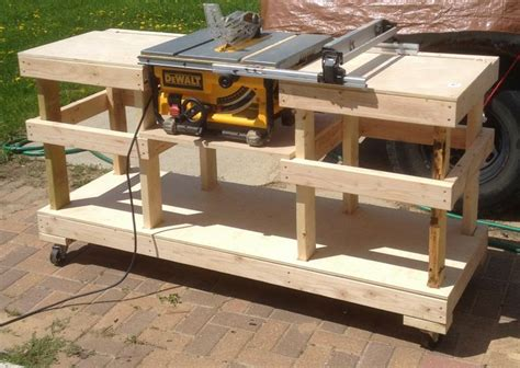 table saw workbench woodworking plans mitre saw table diy woodworking projects plans