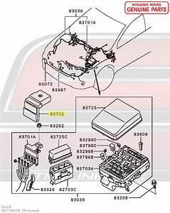 8571a018 Oem Mitsubishi Evo X Fusible Link Box Cover