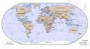 World political map 2002 - Full size