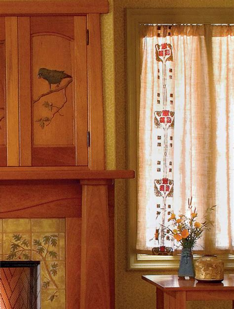 arts and crafts curtains easy craftsman era curtains arts crafts homes and the
