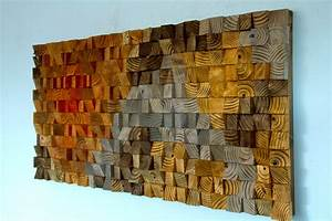 Large Rustic Art, wood wall sculpture, abstract painting