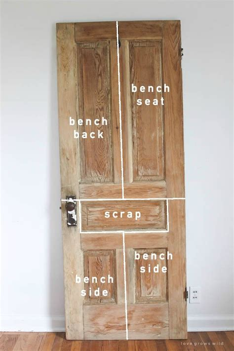 Old Door, New Bench  Diy Home Decor Ideas Pinterest