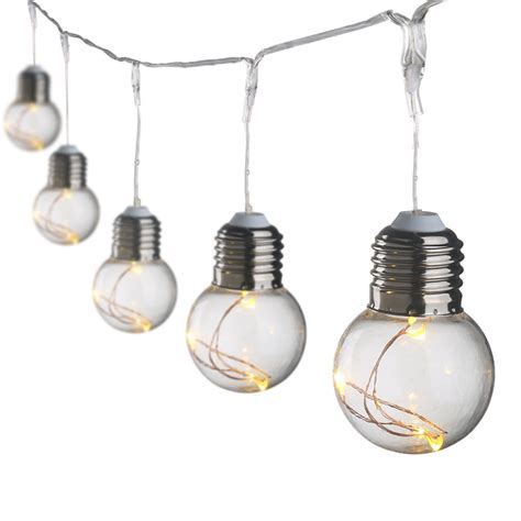 light bulbs on a string led globe copper wire string lights 25 units g45 bulbs
