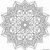 Mandala Coloring Floral Printable Prints sketch template