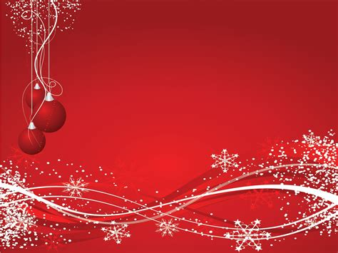 xmas snowflakes powerpoint templates christmas red