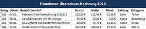 Einnahmen überschuss Rechnung Beispiel : tipps f r die einnahmen berschuss rechnung ~ Themetempest.com Abrechnung