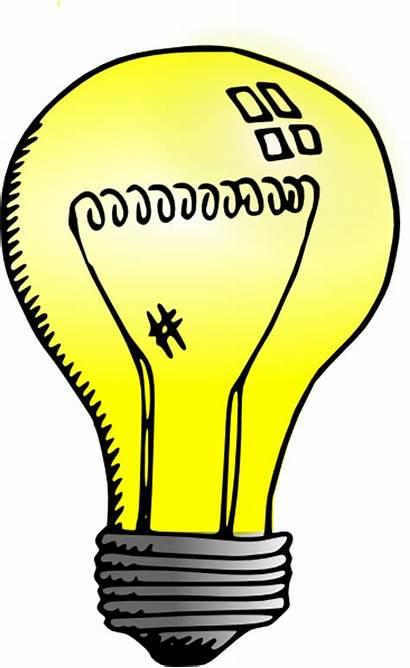 Bulb Clip Incandescent Clipart Clker Vector