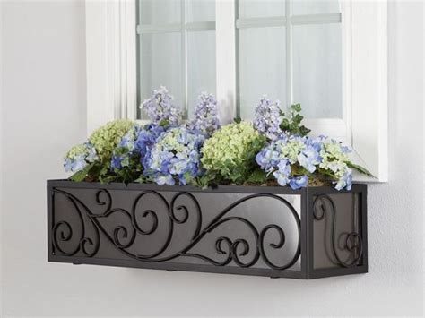 wisteria wrought iron window box cageflower planter