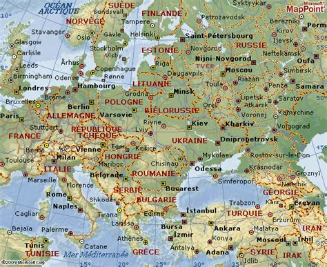 Carte Europe Centrale Et De L Est by Europe De L Est