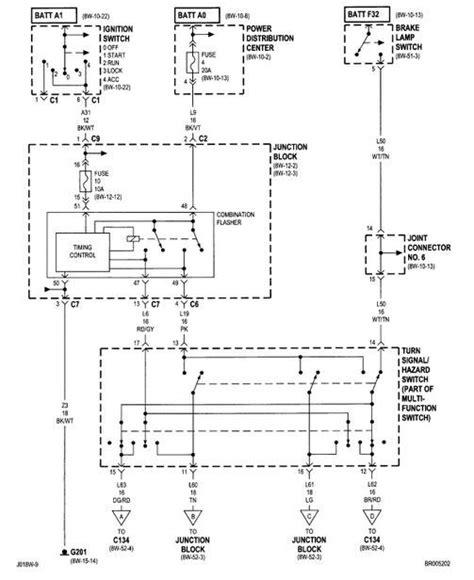 Volvo Vnl 660 Wiring Diagram by Dodge Ram 1994 2001 2nd Generation Turn Signal Hazard And