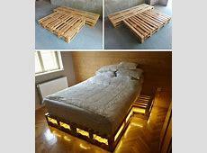 pallet storage bed Design Decoration
