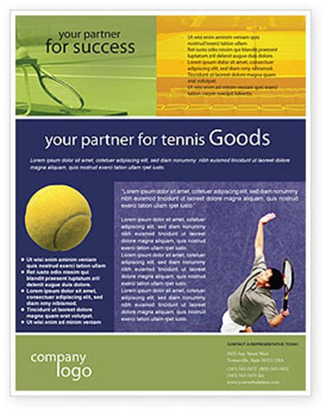 Sports C Brochure Template by Tennis Flyer Template Background In Microsoft Word