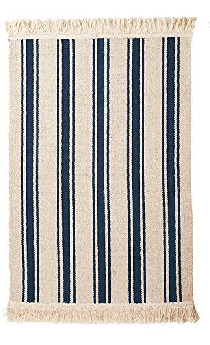 Ikea Teppich Blau by Ikea Flatwoven Area Kitchen Rug Stripes Cotton Beige Blue