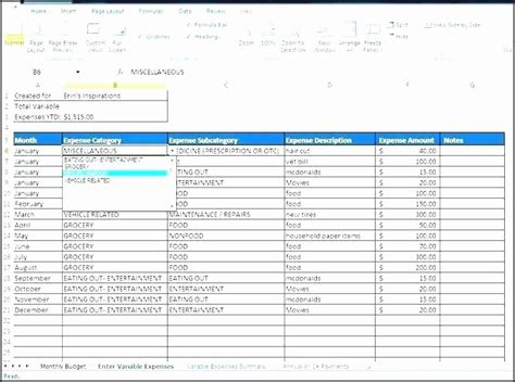 excel template business expenses   excel
