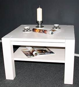 Wohnzimmertisch Holz Weiß : massivholz couchtisch 90x90 sofatisch wohnzimmertisch kiefer ~ Frokenaadalensverden.com Haus und Dekorationen