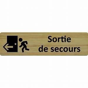 Plaques De Portes : plaque porte standard format 45x170mm sortie de secours ~ Melissatoandfro.com Idées de Décoration