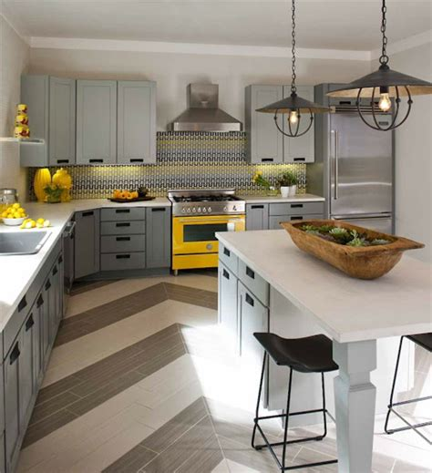 cuisine gris jaune cuisine sol gris meilleures images d 39 inspiration pour