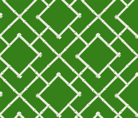 Osaka Bamboo Trellis  Green Wallpaper