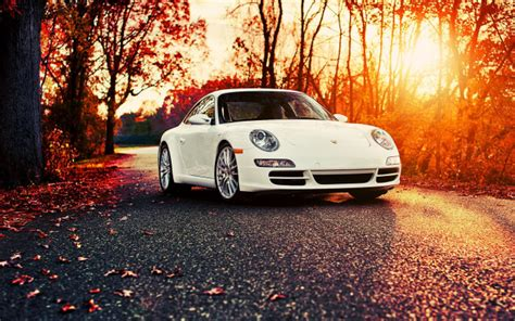 Car Wallpapers Desktops Nature Pictures by Wallpapers Porsche 911 Car Autumn Leaf Sunset Porsche