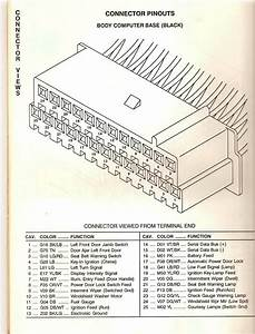 Wiring Diagram Clusters Lebaron 1990