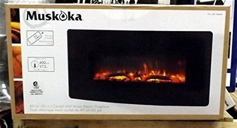 urbana muskoka  curved wall mount electric fireplace
