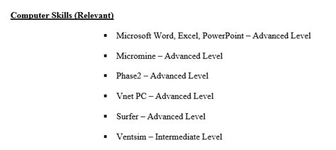 Relevant Computer Skills For Resume by Step By Step Cv Resume Writing
