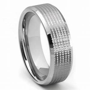 tungsten carbide diamond cut unique wedding band ring With tungsten diamond wedding rings
