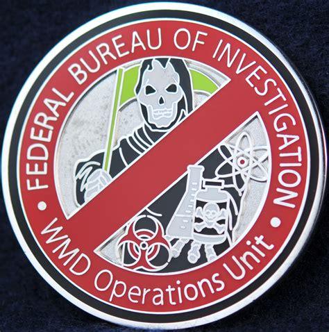 bureau du fbi us fbi wmd operations unit challengecoins ca