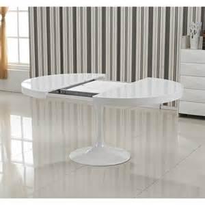table de salle 224 manger extensible tulipe blanche pop design fr