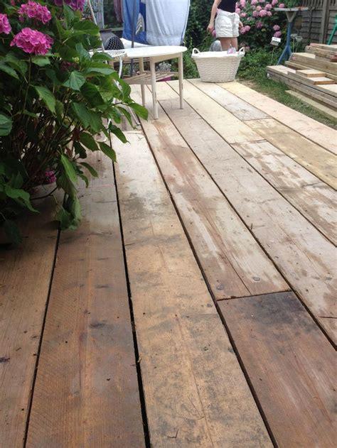 scaffold board decking   garden renovating timber