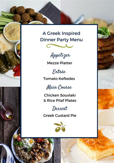 A Greek Inspired Dinner Party Menu  Pretty Mayhem