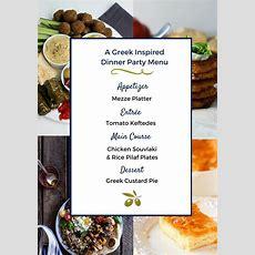 A Greek Dinner Party Menu