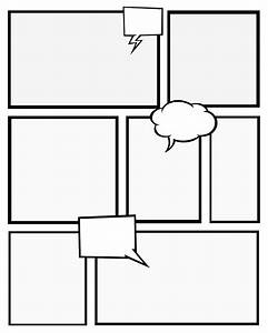 7 best images of comic book templates printable free for Printable blank comic strip template for kids