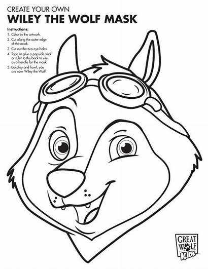 Coloring Pages Wolf Lodge Printable Mask Colouring