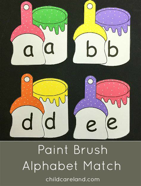 paint brush alphabet match for letter recognitions and 803 | a2ea5319b89b0c3f48b8a0602926e855