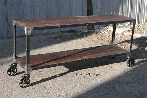 rustic tv console table vintage industrial console sofa table urban modern